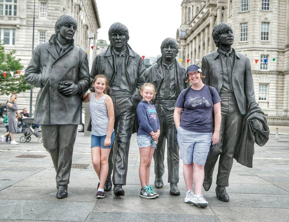 The Beatles and my girls in Liverpool