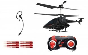 Christmas Gift Giveaway: Sky Rover Voice Command Missile Launcher Indoor R/C Helicopter