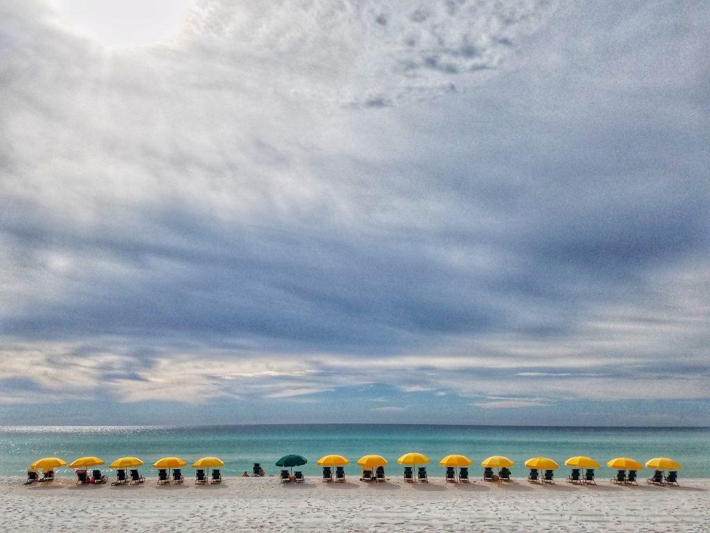 beach chairs on the beach in Florida