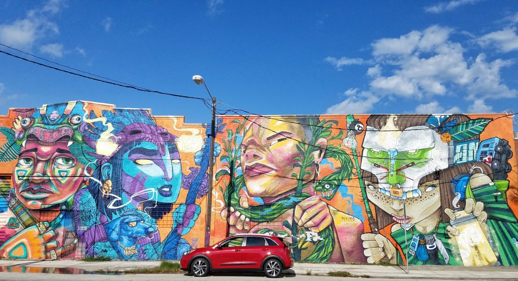 Kia Niro Live Sports Happiness Wynwood Miami Art