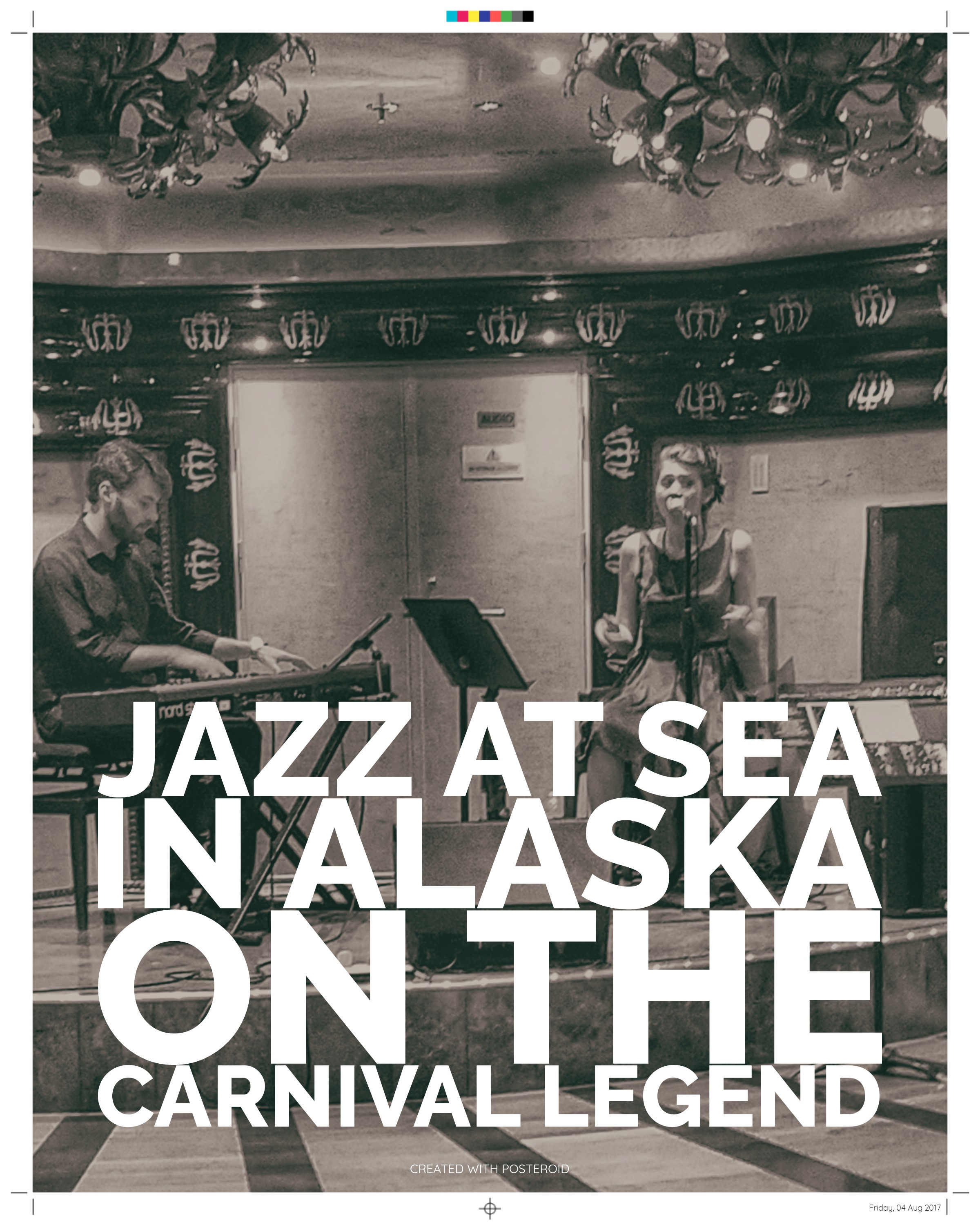 Arjana and Ivan perform on board the Carnival Legend in Alaska.