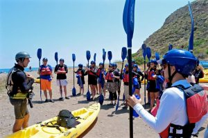 KiaSBExp Focus and Fun of Channel Islands Cave Kayaking