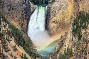 Stumbling Into Yellowstone's Perfect Waterfall Rainbow From Artist Point
