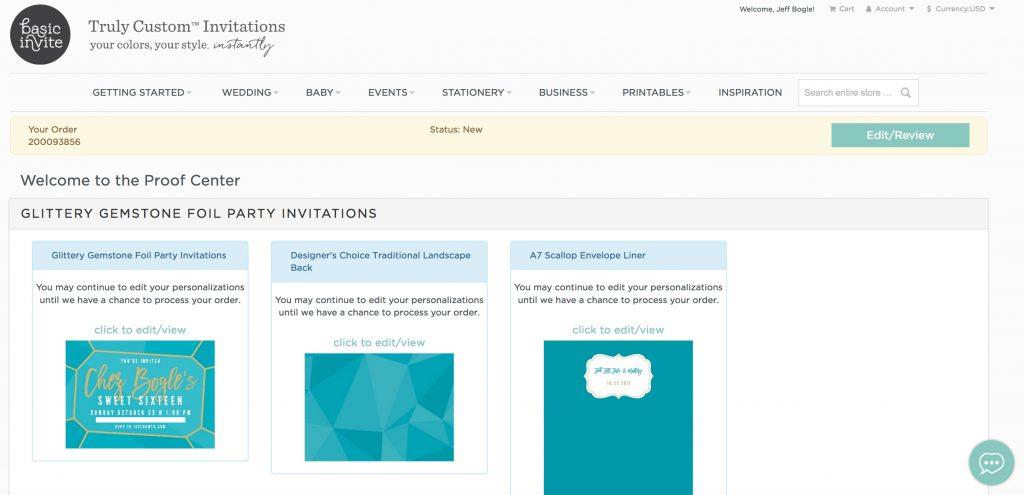 OWTK Basic Invite Sweet Sixteen Website Screenshot