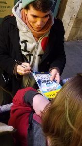 Dear Evan Hansen Music Box NYC Stage Door Autograph Hunting Noah Galvin