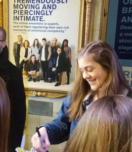 Dear Evan Hansen Music Box NYC Stage Door Autograph Hunting Laura Dreyfuss