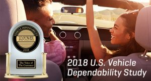 JD Powers 2018 US Vehicle Dependability Study