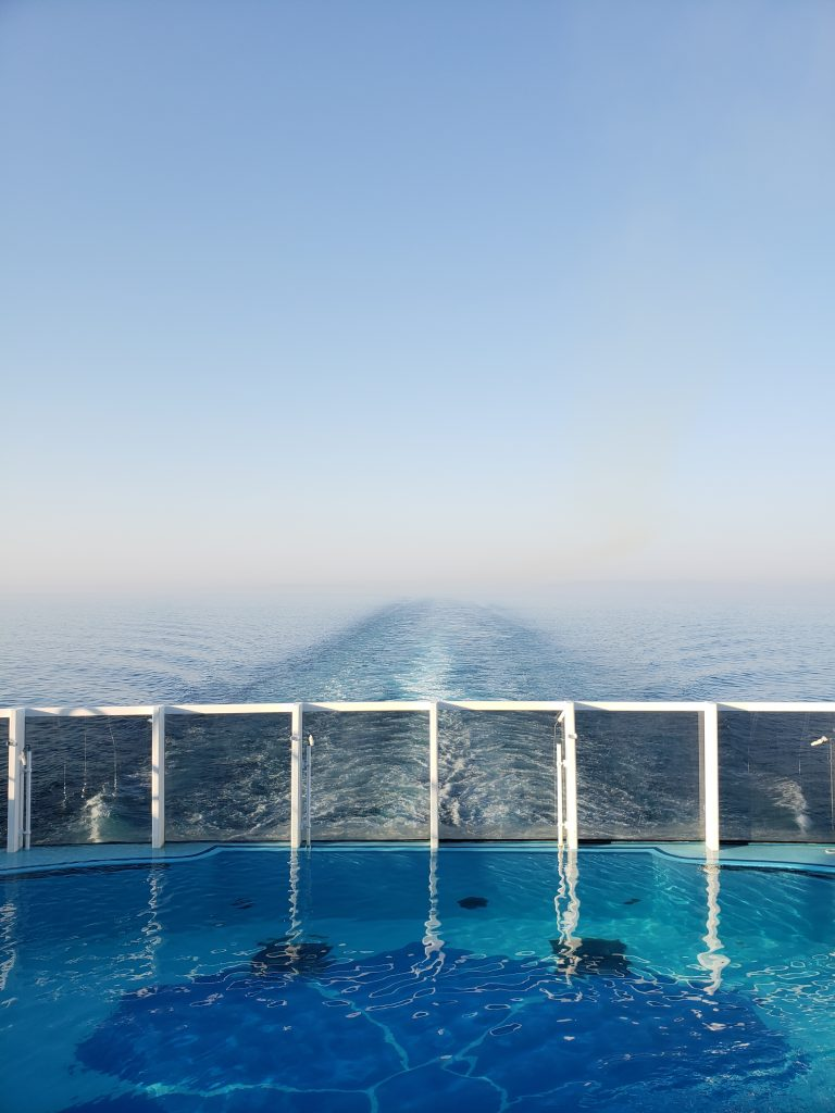 A View of the Horizon From the Back of the Carnival Horizon