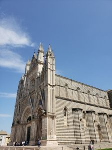 Travel Bucket List Destination Orvieto Italy duomo and sky