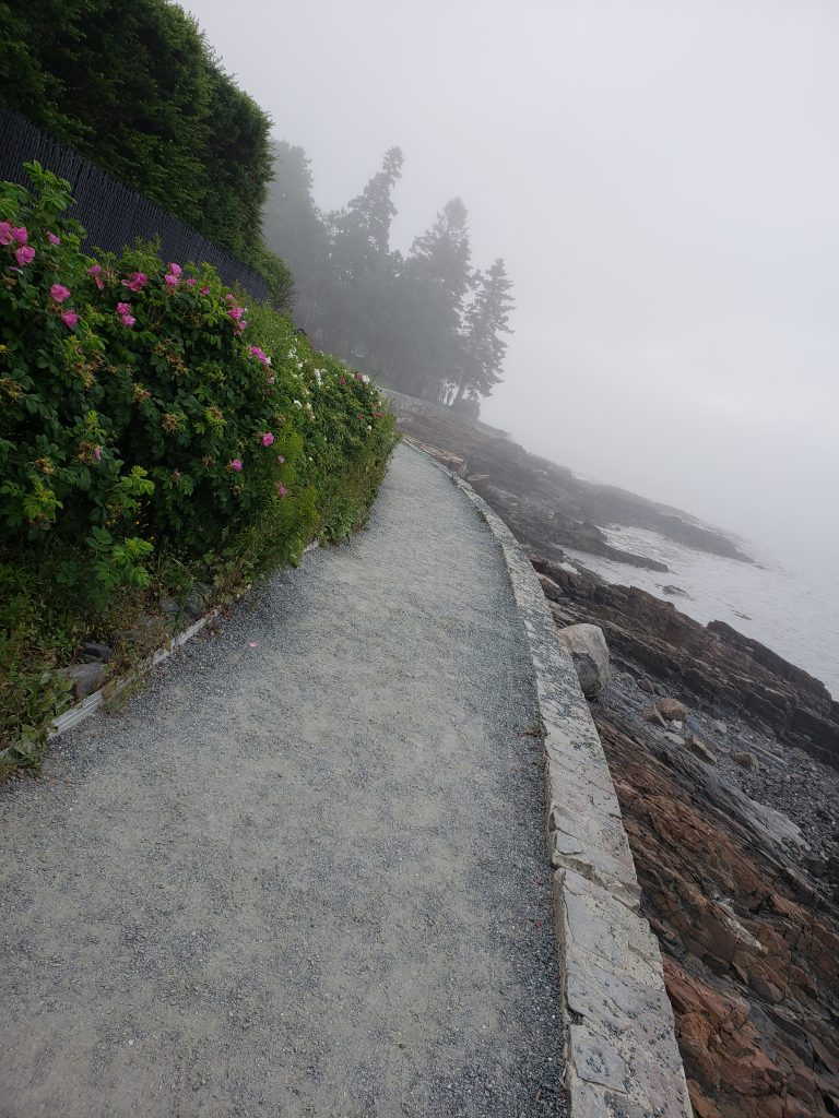 The Shore Path in Bar Harbor and the quiet serenity it offers