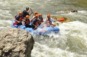 Dynamic water while rafting the Arkansas River in Colorado