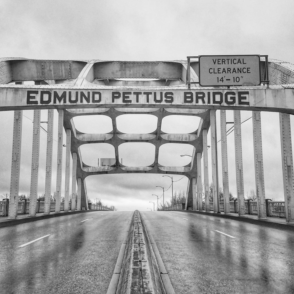 Mama's Kitchen Selma Alabama_Shape of Time_Pettus Bridge B&W