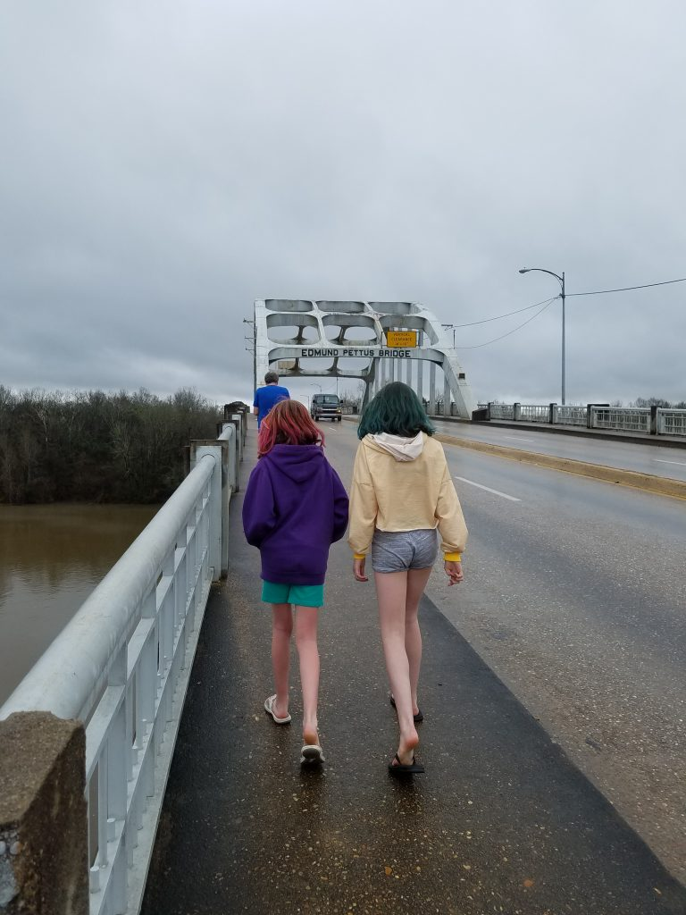 Mama's Kitchen Selma Alabama_Shape of Time_Walking over Pettus Bridge