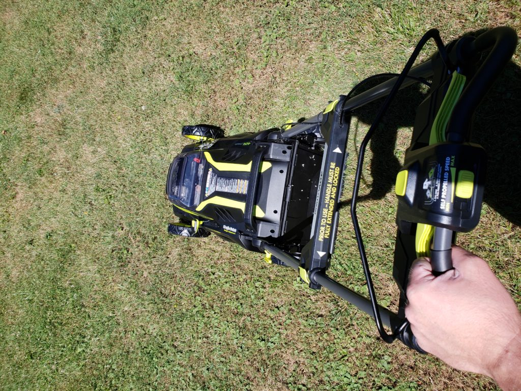 RYOBI 40V Self-Propelled Mower Kid Powered