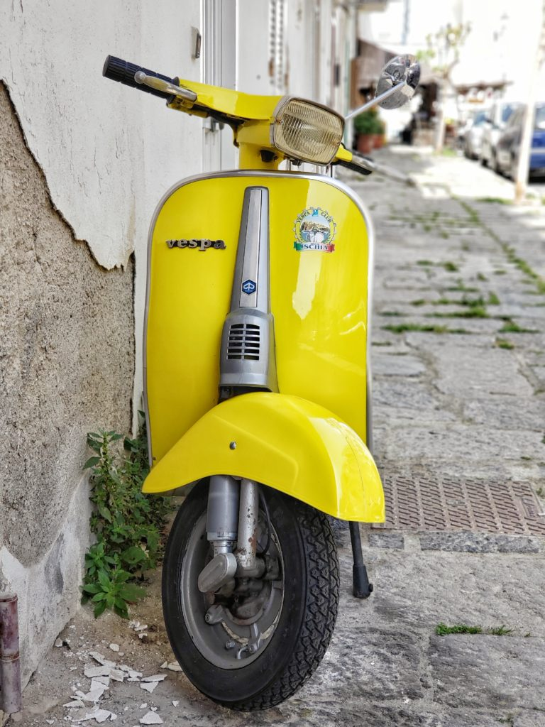 Serious travel goals on a Vespa in Ischia Italy