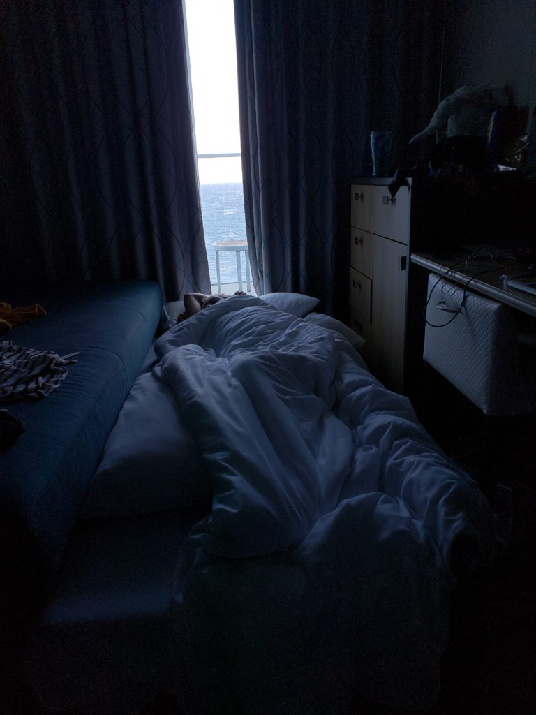 Royal Caribbean Symphony of the Seas Day in Naples deck 6 cabin trundle bed