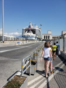Royal Caribbean Symphony of the Seas Day in Naples walking back to port