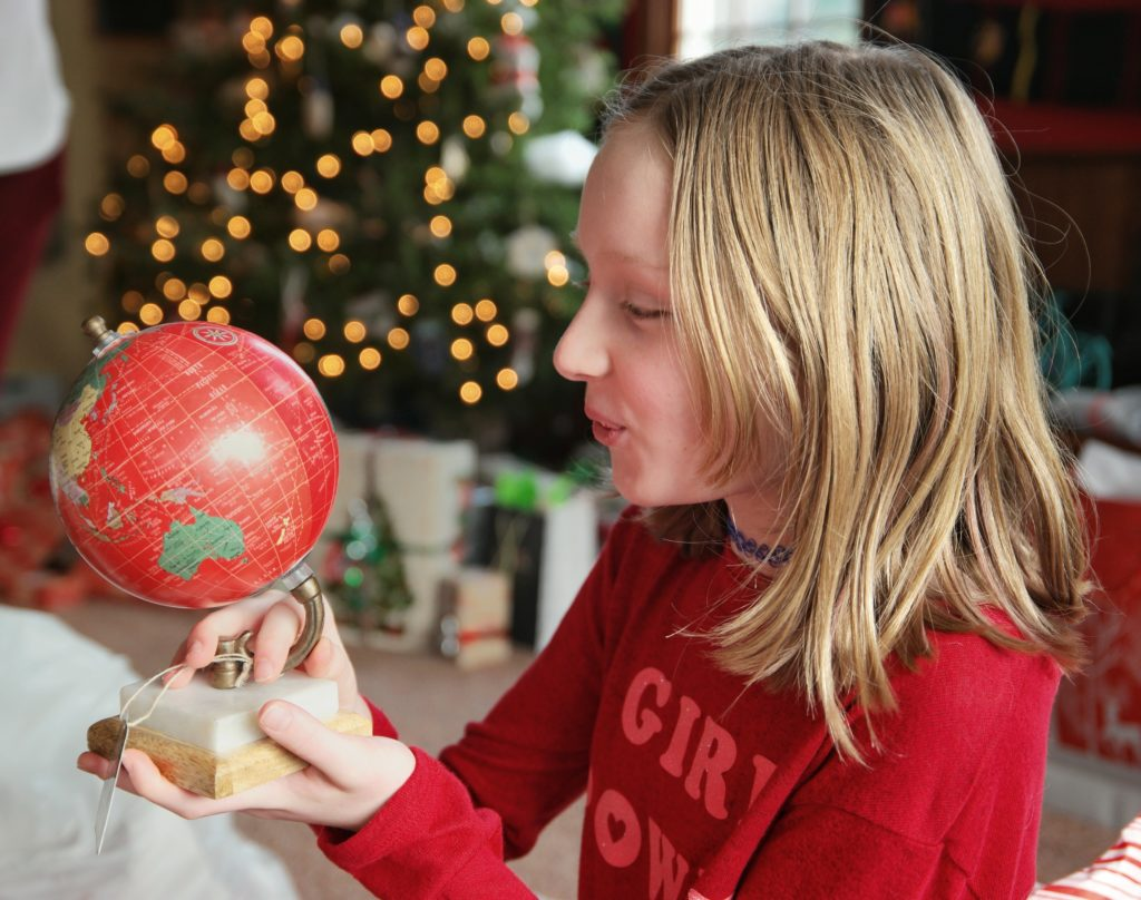 Holiday Shopping On A Budget-Red Globe Christmas Gift