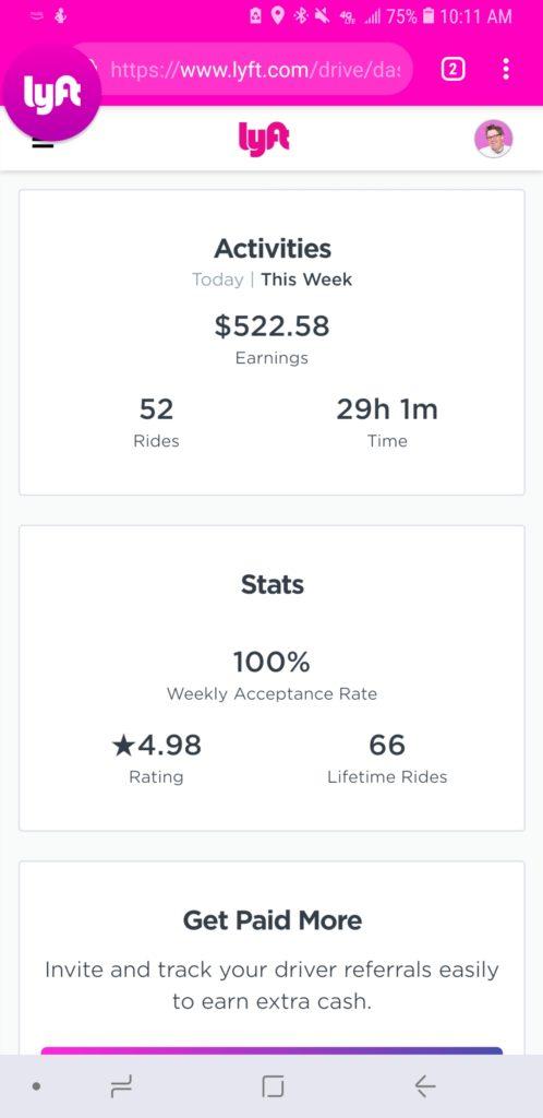 My $522 week as a Lyft Driver