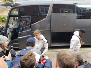 Tom Cairney_Fulham Football Club Toiletry Bag Team Bus at Craven Cottage