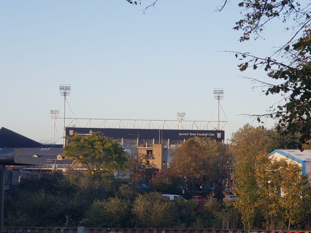 Ipswich Town Portman Road from the Train Station