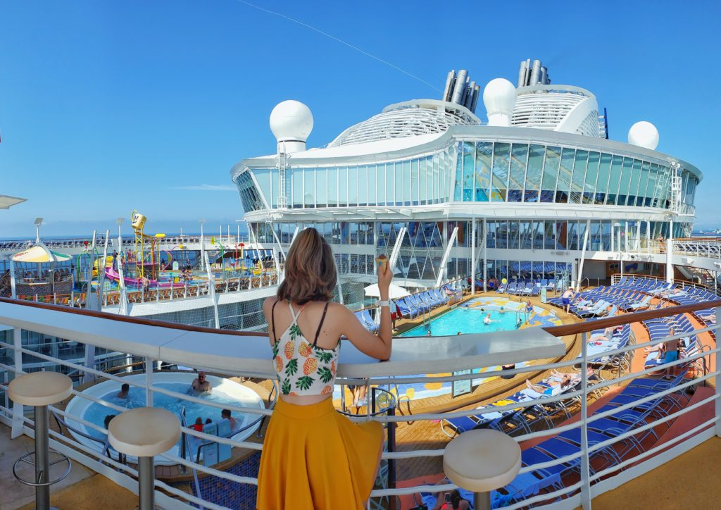 best photo spots on the royal caribbean symphony of the seas pano