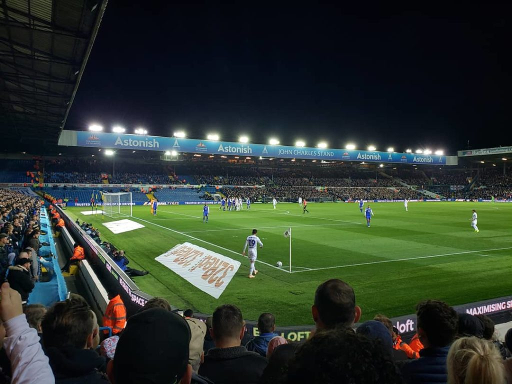 Leeds United V Ipswich Elland Road Oct 2018 from the Cheese Wedge