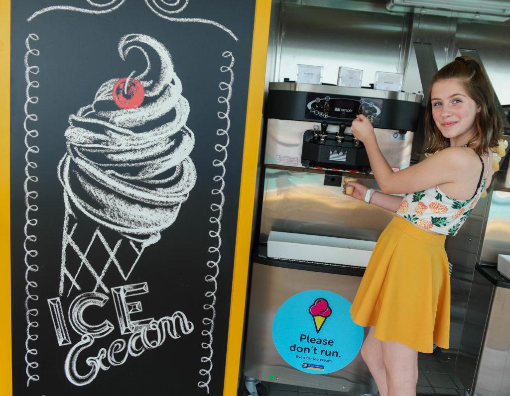 best photo spots on the royal caribbean symphony of the seas ice cream
