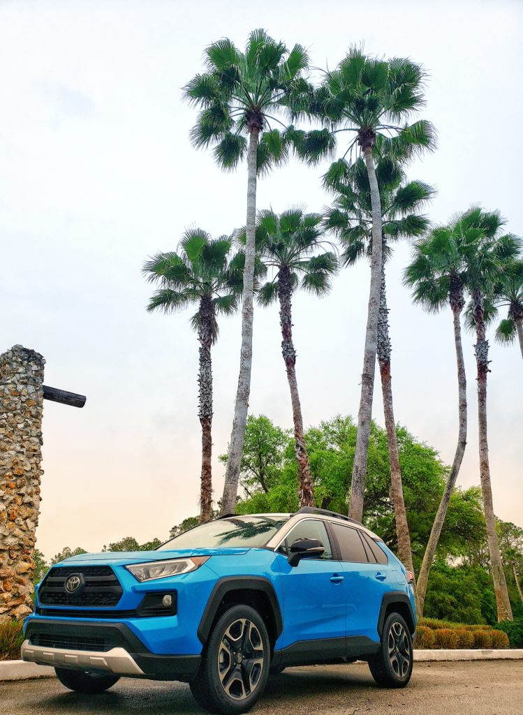 2019 Toyota Grand Slam Spring Training press trip Toyota Rav4 Adventure AWD Blue Flame