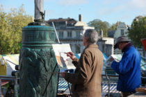 Painting en plaine air in Norwich