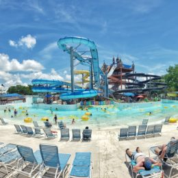 The Master Blaster water coaster at Schlitterbahn New Braunfels, TX