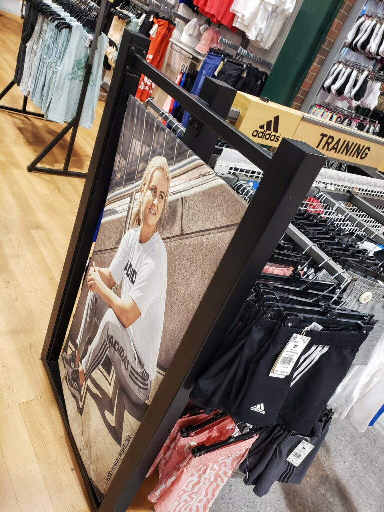 Lindsay Horan Adidas Display at Dick's